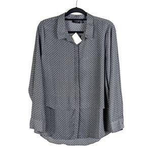 New Apt 9 Polkadot Button Down Shirt